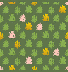 Palm leaf paint seamless pattern vector