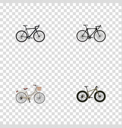 Realistic brand exercise riding cyclocross vector