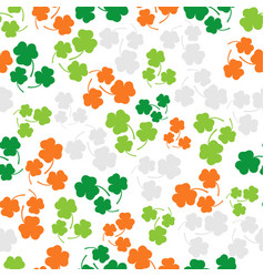 seamless pattern with three leaf color clover vector image vector image