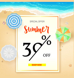 selling ad banner vintage text design summer vector image