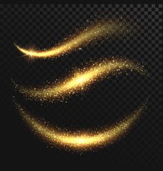 Sparkle stardust golden glittering magic vector