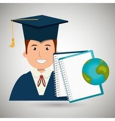 Student graduation isolated icon design vector