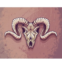 Terrible animals skull with vector image vector image