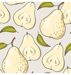 Yellow pear seamless pattern vector image vector image