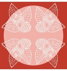 Four abstract raspberry vector