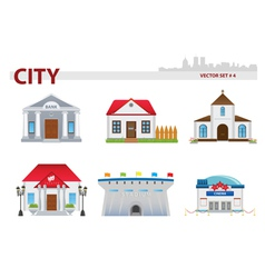 Public building set 4 vector