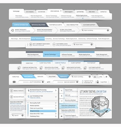 Website design menu navigation vector image