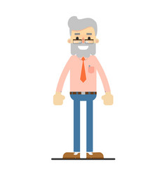 Adult hipster in shirt tie and pants vector