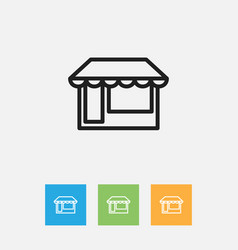Of business symbol on grocery vector
