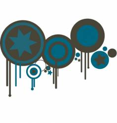 Circles in blue and brown vector