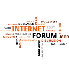 Word cloud internet forum vector