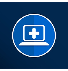 Medical care design over blue background vector
