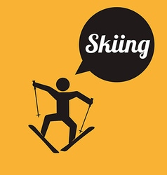 Skiing design vector