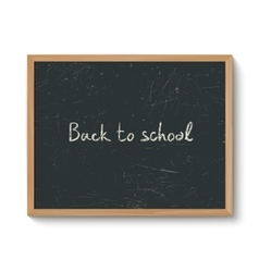 Blackboard in a wooden frame vector