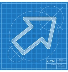 Blueprint icon vector