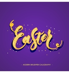 Easter lettering card vector