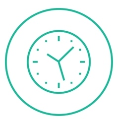 Wall clock line icon vector