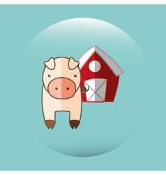 Animal farm design vector