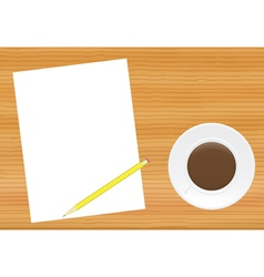 Paper page on office table vector