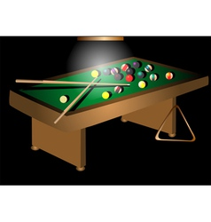 Billiards table and balls vector