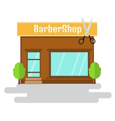 Boutique of flat style building vector image vector image