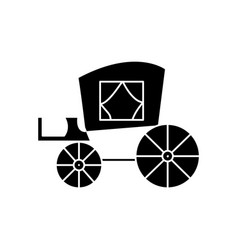 Carriage vintage antique transport icon vector