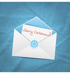 Christmas envelope vector