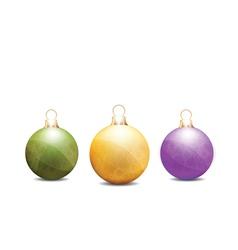 christmas globes vector image vector image