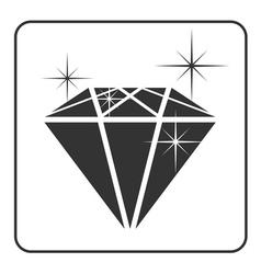 Diamond icon 4 vector