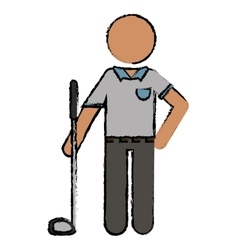 Drawing golf player uniform vector