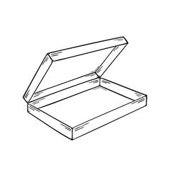 empty paper box vector image vector image