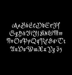 Fantasy gothic font retro vintage alphabet custom vector