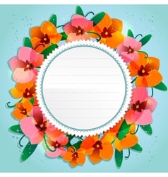 Floral decorative card with orchid vector image vector image