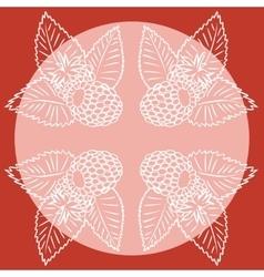 Four abstract raspberry vector