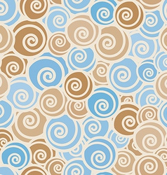 Funny trendy curls seamless pattern vector image