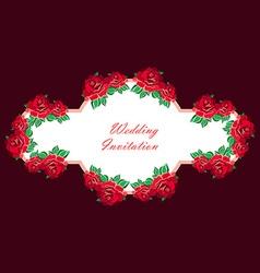 Hand Drawn Wedding Rose Banner vector image vector image