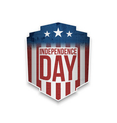 happy independence day gift card vector image vector image