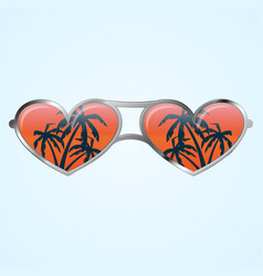 heart shape glasses vector image