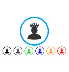 king rounded icon vector image vector image