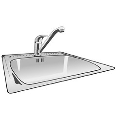 Kitchen sink vector