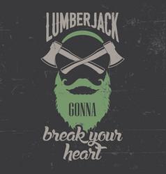 lamberjack face poster vector image