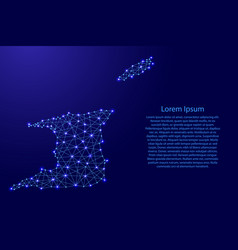 map of trinidad and tobago from polygonal blue vector image vector image