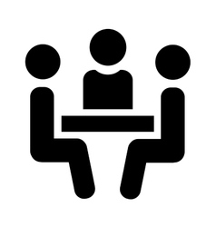 People sitting at table vector image