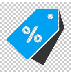 Percent discount tags icon vector