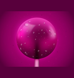 Realistic lollipop candy background sweets and vector