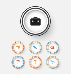 Repair icons set collection of cutter toolkit vector