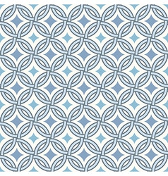 Retro pattern - lines circles and diamond stars vector