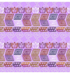 Seamless ethnic purple pattern vector image vector image