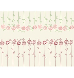 Seamless floral pattern with abstract roses vector