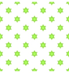 Star of david pattern cartoon style vector